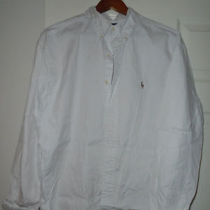 Vintage Ralph Lauren Mens shirt 16.5 34/35 white